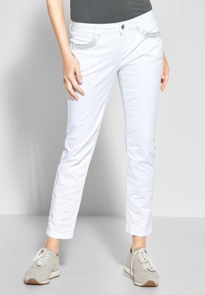 Street One - Verzierte Hose Crissi in White