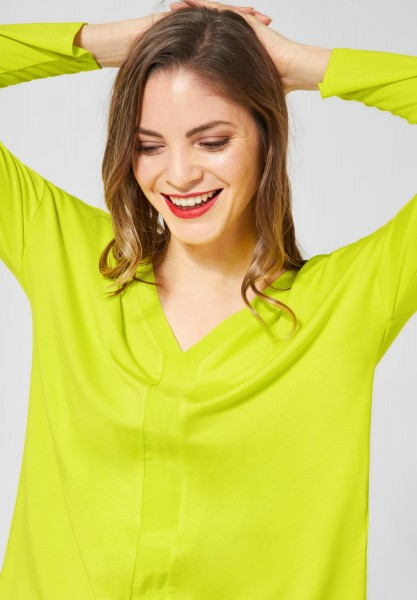 Street One - Basic Shirt aus Cupro in Lime