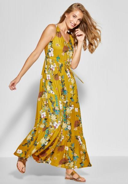CECIL - Flower-Print Maxi Kleid in Ceylon Yellow