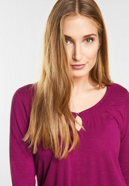 CECIL - Basic 3/4-Arm Shirt Adriana in Magic Pink