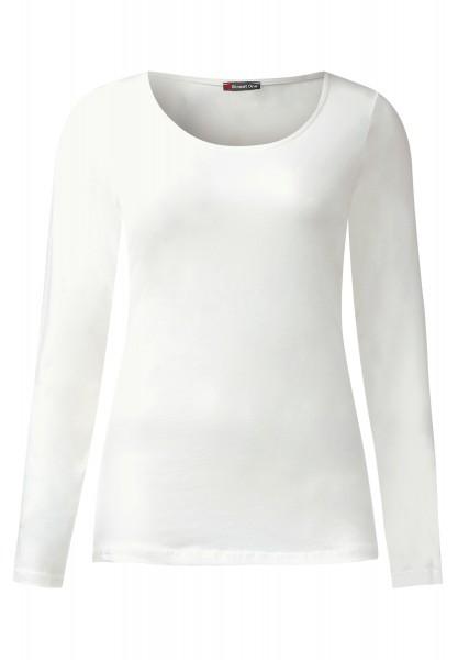 Street One - Langarmshirt Basic Style Iva Off White