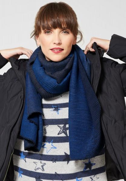 CECIL - Plissee Schal mit Ombré in Deep Blue