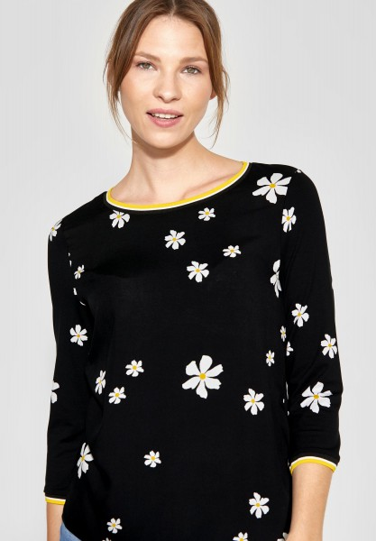 Street One - Shirt mit Printmix Binia in Black