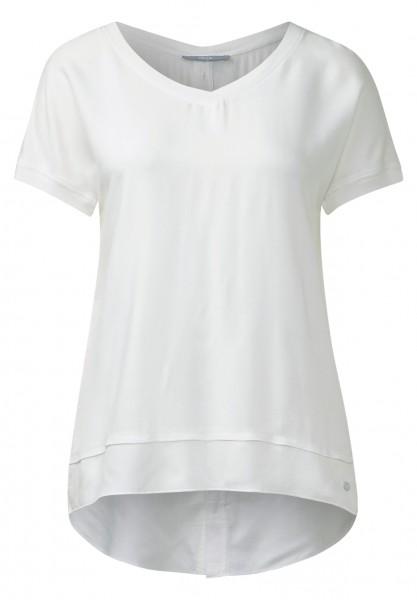 CECIL - Hinten geknöpfte Shirtbluse Off White