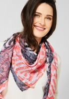 CECIL - Tuch mit Paisley-Muster in Deep Blue