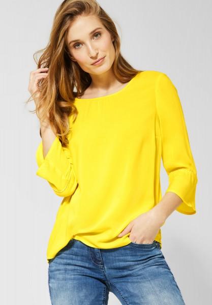 CECIL - Bluse mit Trompetenärmeln in Fresh Yellow