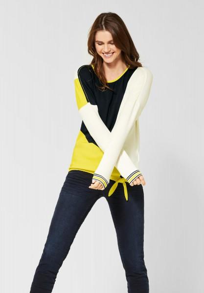 CECIL - Shirt mit Colourblock-Design in Pure Off White