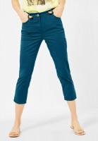 CECIL - Slim Fit Hose in High Waist in Deep Lagoon Blue