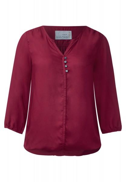 CECIL - Zarte Viskosebluse Emma Crimson Red
