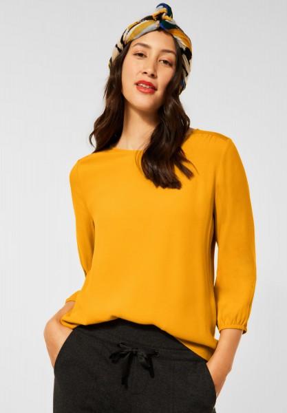 Street One - Shirt mit Puffärmeln in Sulphur Yellow