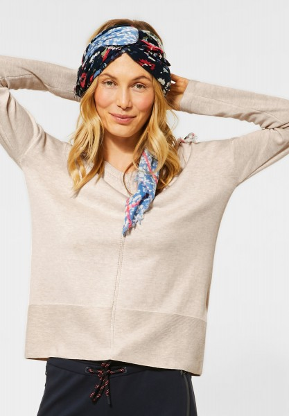 CECIL - Basic-Style Pullover in Soft Camel Melange