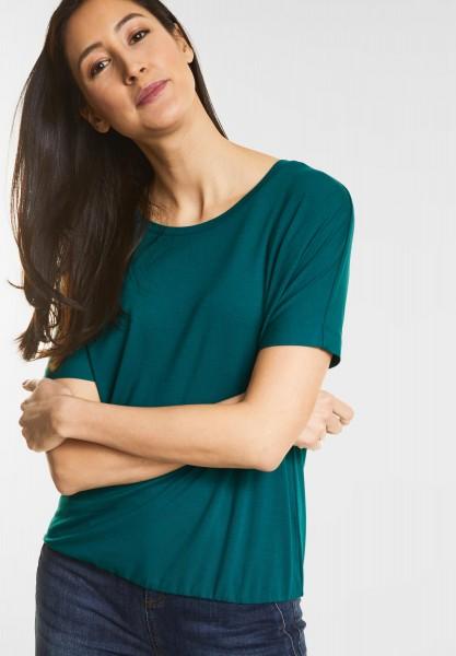 Street One Weiches Shirt Gunja in Teal Green