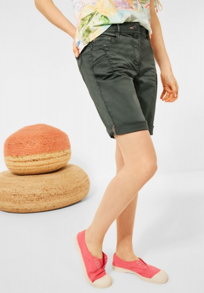 CECIL - Loose Fit Shorts in Utility Olive