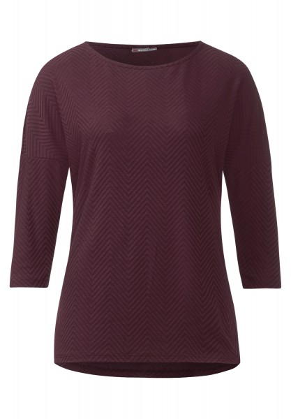 Street One - Struktur-Shirt Gabriela Night Plum