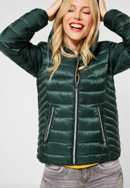 Street One - Wasserabweisende Jacke in Midnight Green