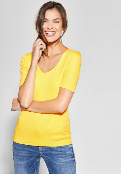 Street One - Basic Shirt Palmira in Creamy Lemon
