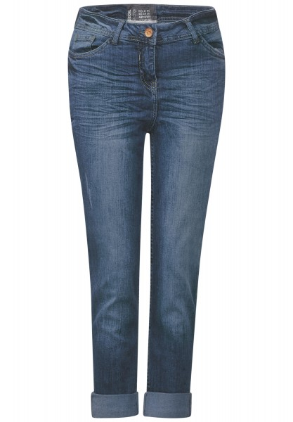 CECIL - 7/8-Tight Denim Toronto in Dark Blue Wash