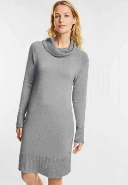 CECIL - Kleid mit Volumenkragen in Mineral Grey Melange