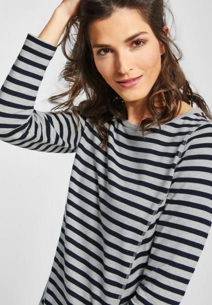 CECIL - Streifen Pullover in Deep Blue