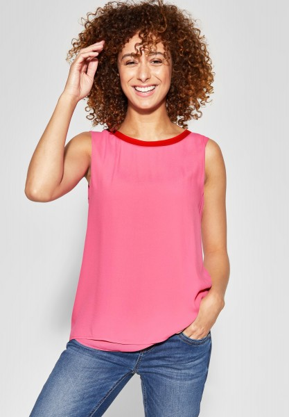 Street One - Top mit Kontrastdetail in Blossom Pink