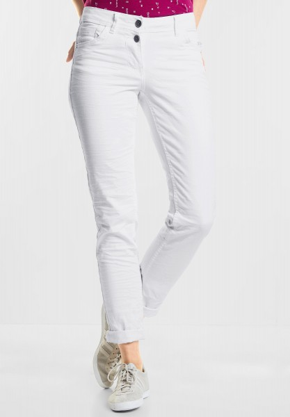 CECIL - Tapered Denim Scarlett in White Denim