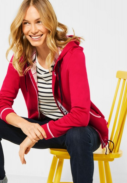 CECIL - Sportive Sweatjacke in Hibiscus Red