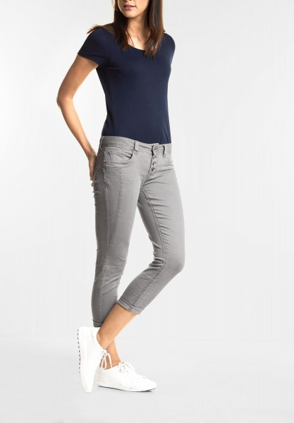 Street One - Coloured Denim Crissi in Light Grey Wash