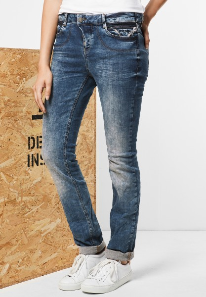 Street One - Low Waist Denim Mika Dark Blue Stone Wash