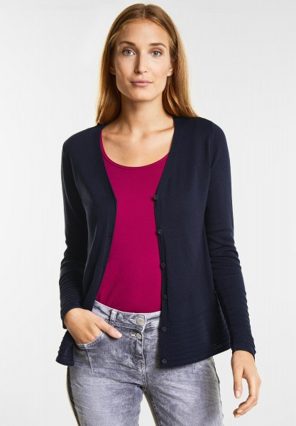 CECIL - Basic Cardigan in Deep Blue
