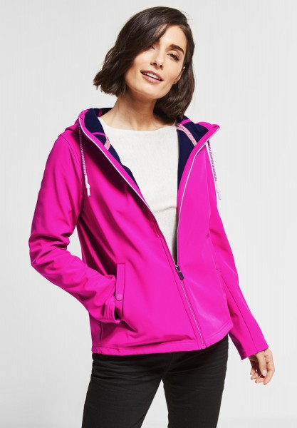 Street One - Kurze Softshell Jacke in Cyber Pink