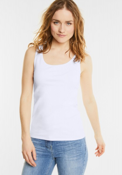 CECIL - Organic Tanktop Linda in White