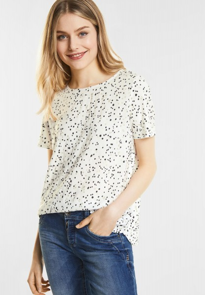 Street One - Weiches Muster-Shirt Fita in Off White