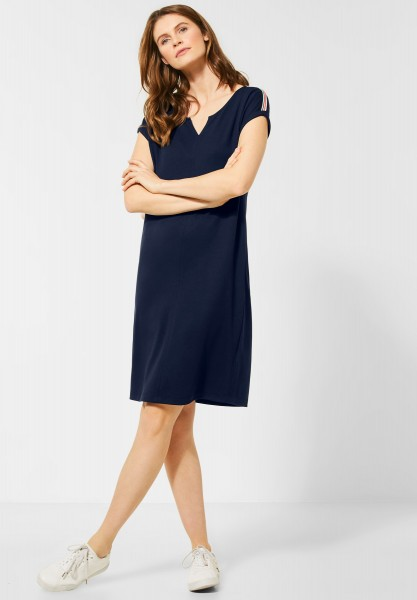 CECIL - Kurzes Jerseykleid in Deep Blue