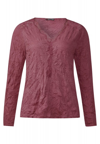 Street One - Crash Spitzenshirt Kamilla in Fuchsia Blush