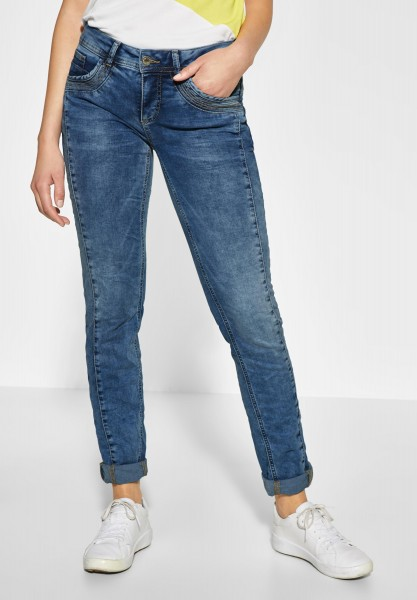 Street One - Casual Fit Denim Crissi in Light Blue Random Bleached