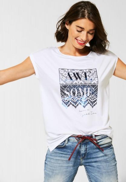 Street One - T-Shirt mit Frontprint in White