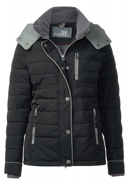CECIL - Steppjacke mit Thermometer Black
