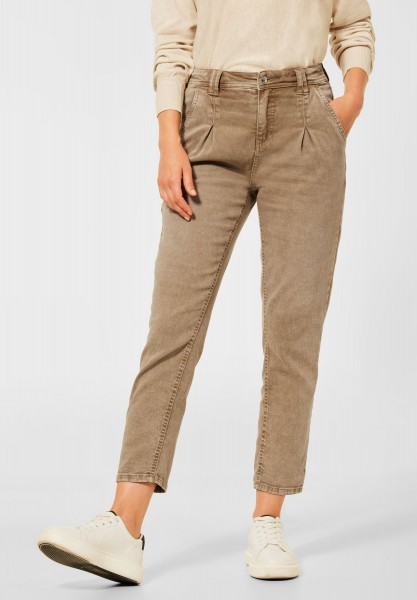 Street One - Loose Fit Denim in Mom-Fit in Dark Shiny Sand Washed