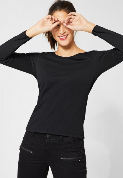 Street One - Doppelfront-Shirt Lanea in Black