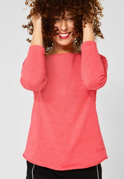 Street One - Basic Shirt Mina in Neon Coral