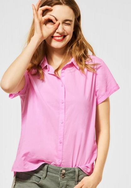 Street One - Bluse mit Hemdkragen in Pearl Rose
