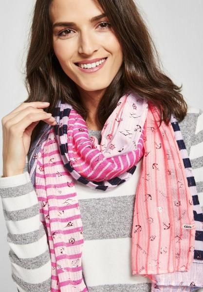 CECIL - Schal mit Patchworkprint in Bubblegum Pink
