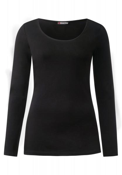 Street One - Langarmshirt Basic Style Iva Black