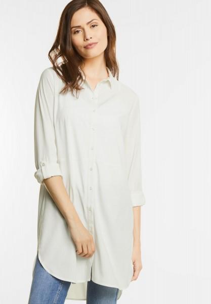 Street One - Extralange Hemdbluse in Off White