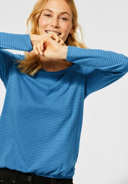 CECIL - Langamshirt mit Streifen in Bright Blue