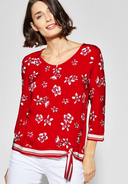 Street One - Allover Print Shirt in Vivid Red
