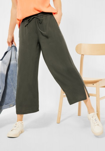 CECIL - Loose Fit Hose mit Wide Legs in Utility Olive