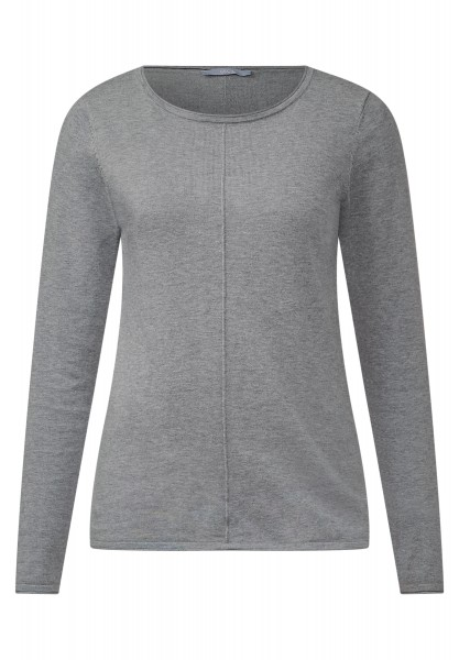 CECIL - Basic-Style Pullover Alena Silver Melange