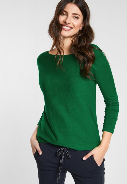 Street One - Basic Pullover Noreen in Jolly Green