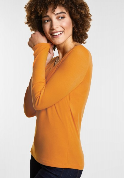 Street One - Softes Basic Shirt Lanea in Clementine